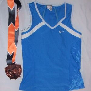 Nike womens small blue tank top shirt  running